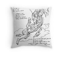 The Heartbroken Cosmic Court Jester  Throw Pillow