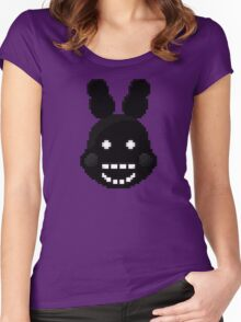 Five Nights at Freddy's 2 - Pixel art - Shadow Bonnie Women's Fitted Scoop T-Shirt