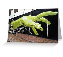 do you need a hand to graffiti that? Greeting Card