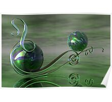 A Swirl in Jade Poster
