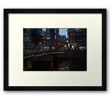 Bikes on Canal Bridge Framed Print