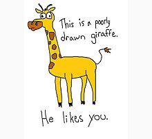 An Adorable Poorly Drawn Giraffe T-Shirt