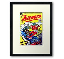 Rare Golden-Age comic cover the AVENGER #1, RETRO Framed Print