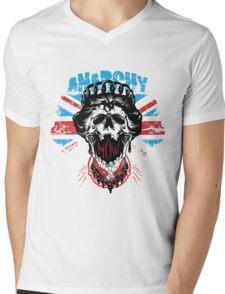 Queen Brit Anarchy Mens V-Neck T-Shirt