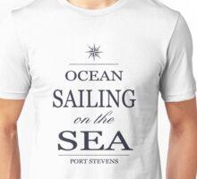 Ocean sailing on the sea Unisex T-Shirt