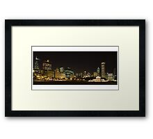 Chicago Bears  in the Chicago Skyline Framed Print
