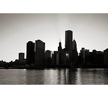 Chicago skyline from Navy Pier Photographic Print