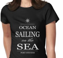 Ocean sailing on the sea Womens Fitted T-Shirt