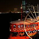 Star Ferry at night by robigeehk