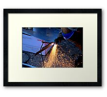 Plasma Cutter Framed Print
