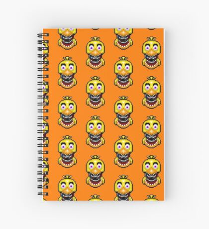 Five Nights at Freddy's 2 - Pixel art - Withered Old Chica Spiral Notebook