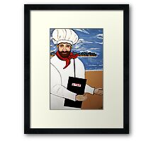 CHEF   ISRAEL CHEF ART DECO AND MODERN Framed Print