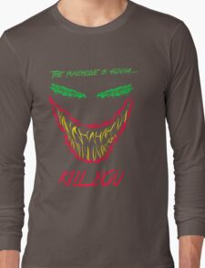 Mad man with a smile for chaos Long Sleeve T-Shirt