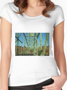 Lime Green Bridge Women's Fitted Scoop T-Shirt