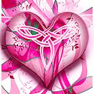 Celtic Twist Heart Pink by Smurfesque