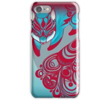 Mr Bold the Feline Fox with a patterned tail iPhone Case/Skin