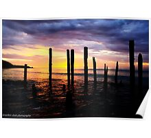 port willunga at sunset Poster