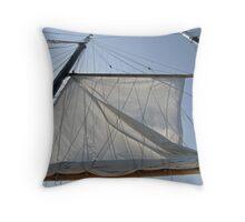 Sailing in Nova Scotia Throw Pillow