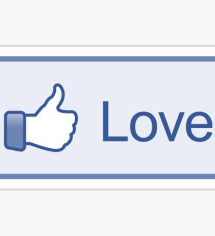 """Like Button """"Love"""" Shirt Sticker"""