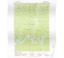 USGS Topo Map Oregon North Fork 280933 1984 24000 Poster