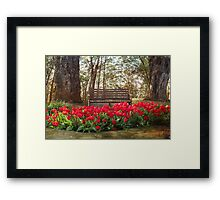 Tulips in the Forest Clearing Framed Print