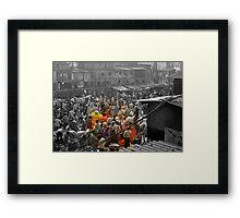 Malik Ghat Flower Market (Kolkata) Framed Print
