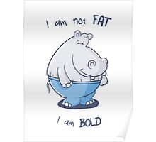 I am not fat, I am bold Poster