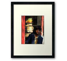 Young Man on the Bus (Kolkata) Framed Print
