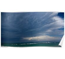 Untitled- Blue Beach Clouds Poster