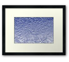 Hibiscus In Blue Framed Print