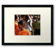 Orange Sari (Kolkata) Framed Print