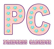 My little Pony - Initials Princess Cadence - White Photographic Print