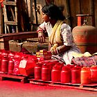 Red Paint (Kolkata) by BGpix