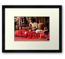 Red Paint (Kolkata) Framed Print