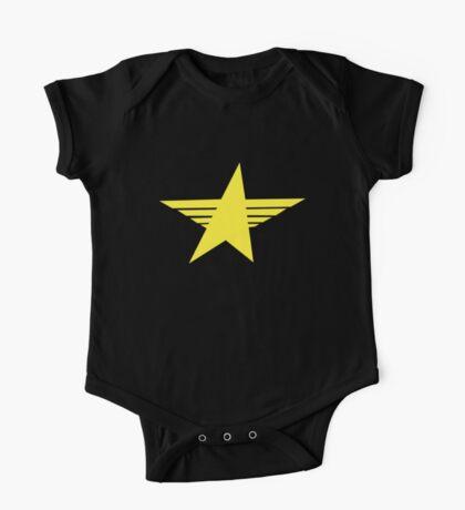 Sharp yellow military star One Piece - Short Sleeve