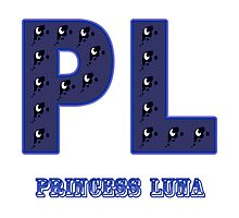 My little Pony - Initials Princess Luna - White Photographic Print
