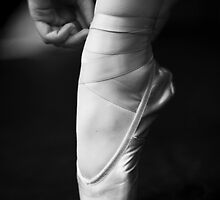 Tying ballet shoe by AnshuA