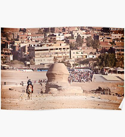 The back of the Sphinx - Pyramids at Giza, Cairo Poster