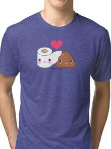 BFF Toilet Paper & Poop Tri-blend T-Shirt