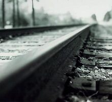 Rails - Waiting for the Train by Nicole  Simpson