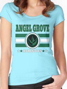 Angel Grove Athletics - Green Women's Fitted Scoop T-Shirt