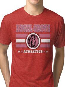 Angel Grove Athletics - Pink Tri-blend T-Shirt
