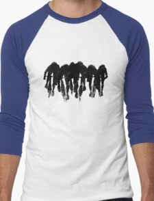 SPRINT FINISH cyclist silhouette print Men's Baseball ¾ T-Shirt