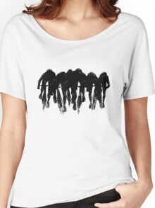 SPRINT FINISH cyclist silhouette print Women's Relaxed Fit T-Shirt