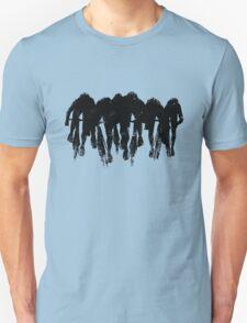 SPRINT FINISH cyclist silhouette print T-Shirt