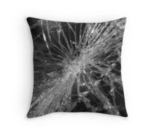 Shattered - Salvage Yard Windshield Throw Pillow