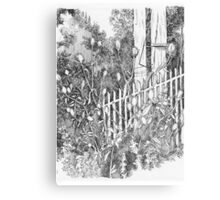 By the Fence Canvas Print
