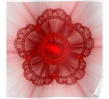 Frilly Red Poster
