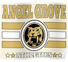 Angel Grove Athletics - Yellow Poster