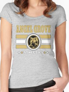 Angel Grove Athletics - Yellow Women's Fitted Scoop T-Shirt